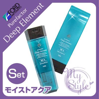 福特純的因素深的要素MA洗髮水<300mL>&處理<230g>安排FORD HAIR Deep Element