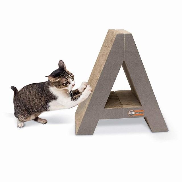 K&H STRECHN SCRACH CT ストレッチン スクラッチ カードボード トイ 爪とぎシリーズ 床置きタイプ(エアバギー 猫 ペット用)