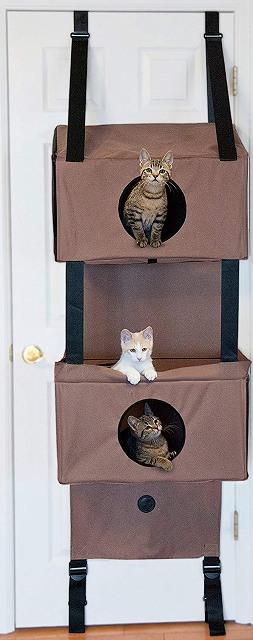 KH HANGING FUNHOUSE-S TAN K&H キャットハウス ハンギン フィーライン ファンハウス ハウスタイプ(ドア) 【送料無料】(エアバギー 猫 ペット用)