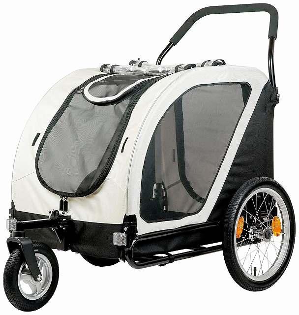 Air Buggy for Dog エアバギーフォードッグ ネスト【大・中型犬45kgまで対応】ロイヤルミルク (ロイヤルミルク&ブラック)【送料無料】(エアバギー 犬 ペット用カート 犬用カート ペットキャリー)