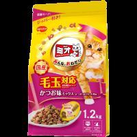 猫用  ミオドライミックス 毛玉対応 かつお味 1.2kg (ドライフード カリカリ キャットフード)