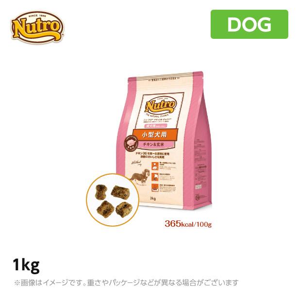 1kg 小型犬用 成犬用 生後8ヶ月以上 買物 チキン玄米 ナチュラル チョイス 犬用 ニュートロ 超特価 ペットフード