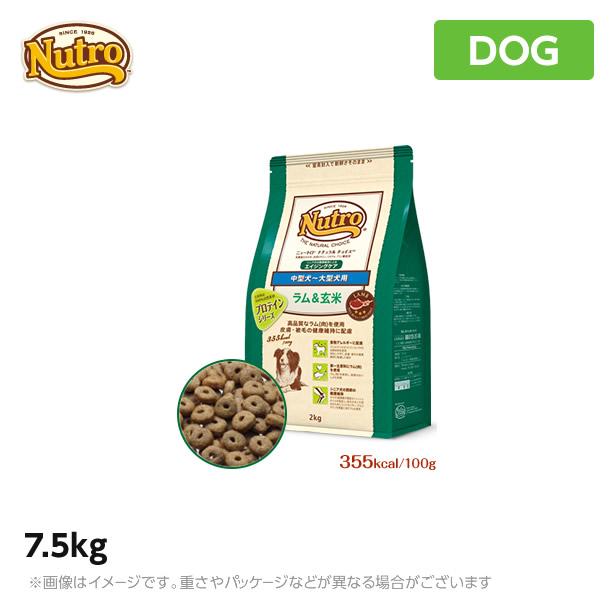 ニュートロ 犬用 ナチュラル チョイス  ラム&玄米 中型犬~大型犬用 エイジングケア 7.5kg (ペットフード)