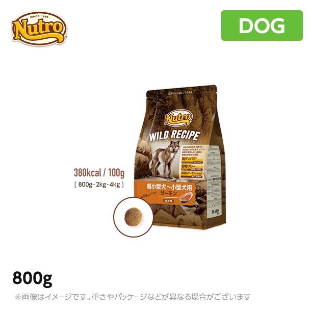 800g 超小型犬~小型犬用 永遠の定番 在庫一掃売り切りセール 成犬用 サーモン ニュートロ 犬用 ペットフード ワイルド レシピ