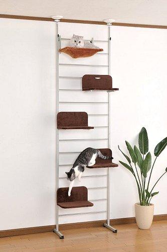 キャットウォーク 猫用キャットタワー ポール ハウス【送料無料】(猫用品 突っ張り)