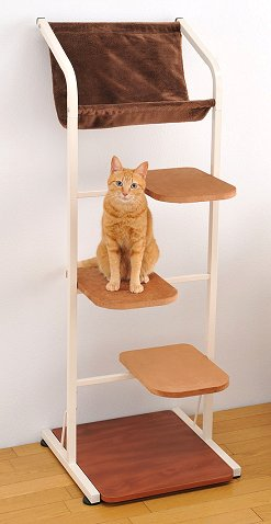キャットウォーク【ミドル】 猫用キャットタワー ポール ハウス【送料無料】(猫用品 据え置き)