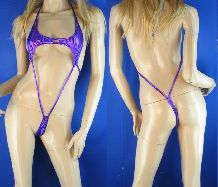 Micro bikini purple women Halloween costume cosplay cosplay Costume Adult costume