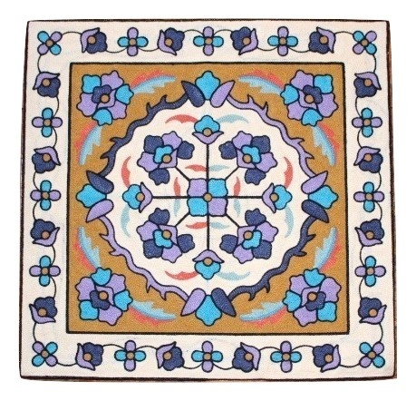 カラフルな刺繍が特徴のクッションカバー クッションカバー モロカン 刺繍 北欧 高級感 45x45 セール 優しい質感 人気 ネイビーパープル フラワー アウトレット お得セット