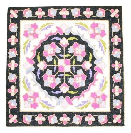 カラフルな刺繍が特徴のクッションカバー クッションカバー 休日 モロカン 刺繍 北欧 高級感 アウトレット ブラックホワイト お値打ち価格で セール 45x45 優しい質感