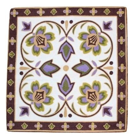 カラフルな刺繍が特徴のクッションカバー クッションカバー モロカン セール品 刺繍 北欧 高級感 優しい質感 アウトレット フラワー 送料無料 グリーンブラウン 45x45 セール [ギフト/プレゼント/ご褒美]