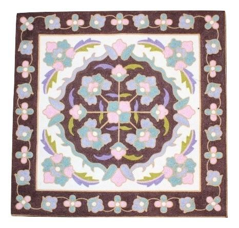 安売り カラフルな刺繍が特徴のクッションカバー クッションカバー モロカン 刺繍 専門店 北欧 高級感 フラワー 45x45 アウトレット セール ホワイトブラウン 優しい質感