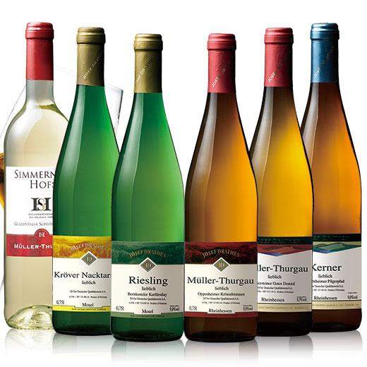 洗練された清々しい甘味ドイツの甘口ワイン ドイツ甘口白ワイン飲み比べ6本セット [ワインセット][白ワイン] 【7783382】