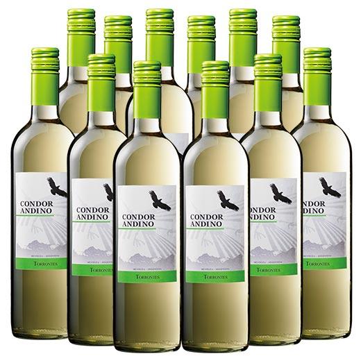 アルゼンチン みずみずしい香味 送料無料 コンドール アンディーノ トロンテス12本セット 白 7777383 白ワイン 即日出荷 辛口 全店販売中 ワインセット