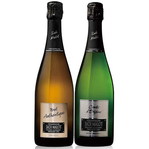 【送料無料】シャンパーニュ・サディ・マロ 2本セット  [ワインセット][スパークリングワイン]【7782009】
