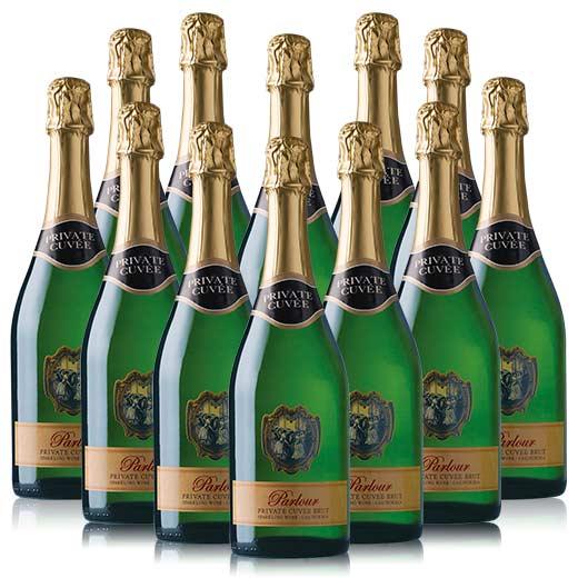 【送料無料】パーラー・ブリュット・スパークリング・キュヴェ 12本セット [スパークリングワイン][泡][ワインセット] 【7783214】