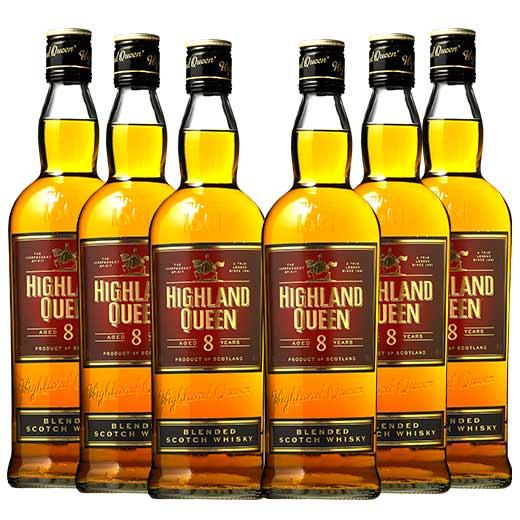 【送料無料】ハイランド・クィーン ブレンデッド 8年 6本セット ウイスキー ウィスキー whysky【7791904】 【この商品は常温便のみでの販売となります】
