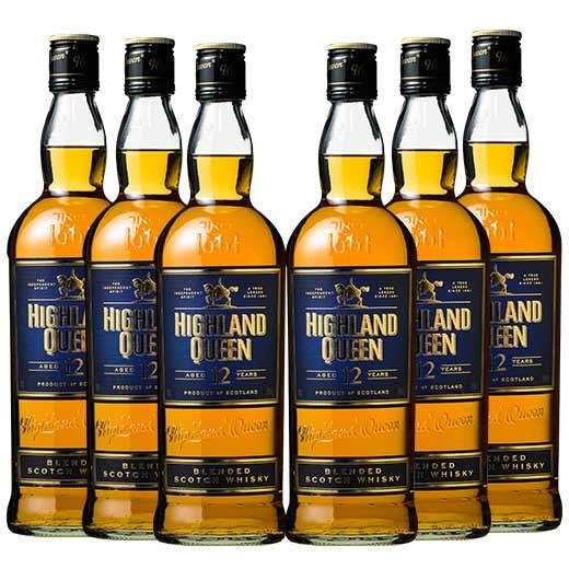 【送料無料】ハイランド・クィーン ブレンデッド 12年 6本セット ウイスキー ウィスキー whysky【7791905】 【この商品は常温便のみでの販売となります】