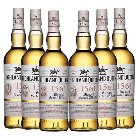 【送料無料】ハイランド・クィーン1561 ブレンデッド 6本セット ウイスキー ウィスキー whysky【7791906】 【この商品は常温便のみでの販売となります】