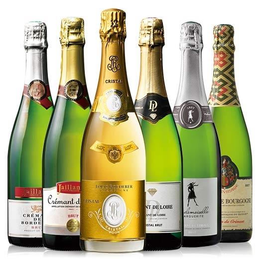 【送料無料】【13%OFF】ルイ・ロデレール・クリスタル&シャンパーニュ製法クレマン6本セット [スパークリングワイン][ワインセット] 【7792128】