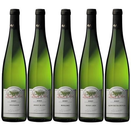 【送料無料】アルザス品種飲み比べメダル受賞白ワイン5本セット 【7795163】 白ワイン ワインセット 辛口