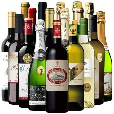 【送料無料】【59%OFF】サンテミリオン・グラン・クリュ&高級シャンパン入り!フランス赤白泡18本セット【7792497】 赤ワイン 白ワイン スパークリングワイン ワインセット 辛口 フルボディ