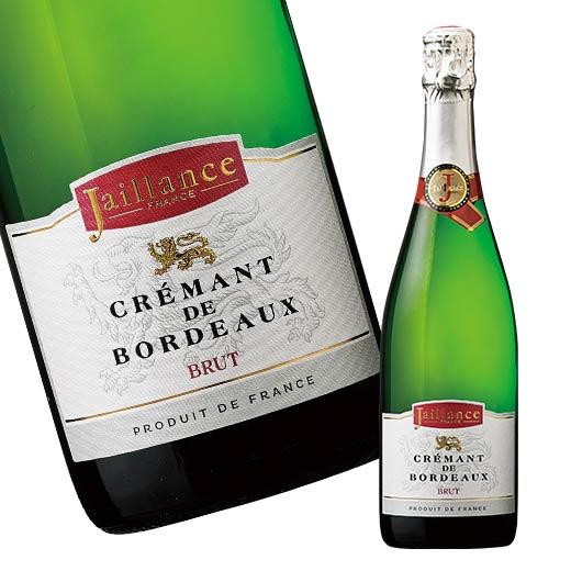 フランス 春の新作続々 スパークリングワイン界の巨人 ジャイヤンス クレマン ド ボルドー 新作 人気 ブリュット 辛口 白 スパークリングワインワイン ACクレマン 7772465 ワイン 発泡