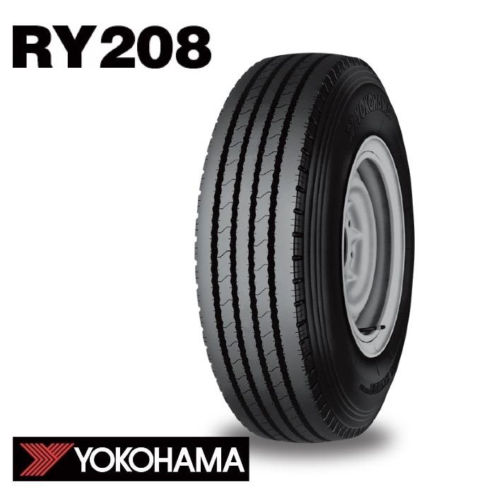 サマータイヤ YOKOHAMA RY208 750R15 10PR (北海道・沖縄・全国離島は発送不可) チューブタイプ (リブ) バン・トラック用