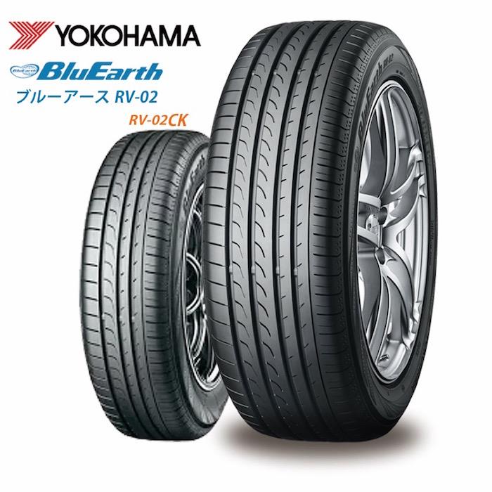 2019年製 サマータイヤ YOKOHAMA BluEarth RV-02 225/55R17 97W ミニバン用 低燃費タイヤ