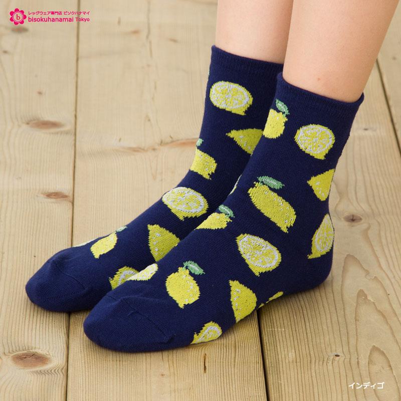 柠檬总花纹船员短袜(全四色)♪袜子短短袜女士socks ladies ♪