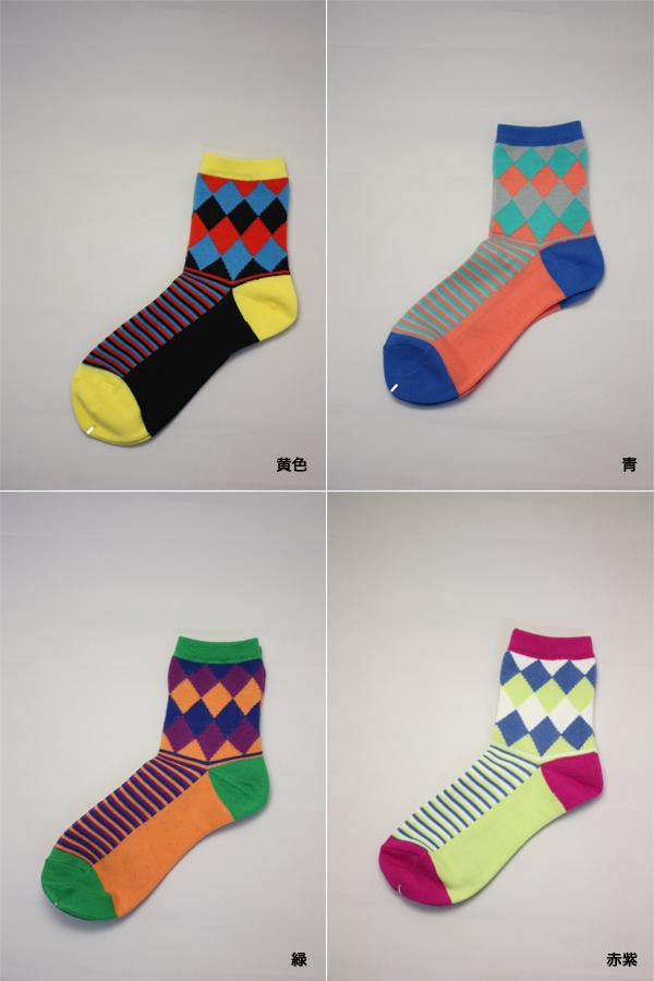 669a69f4a Diamond pattern crew socks (Rockley length) ♪ patterned tights patterned  sheer tights pantyhose tights ladies stocking tights ladies!-ZB