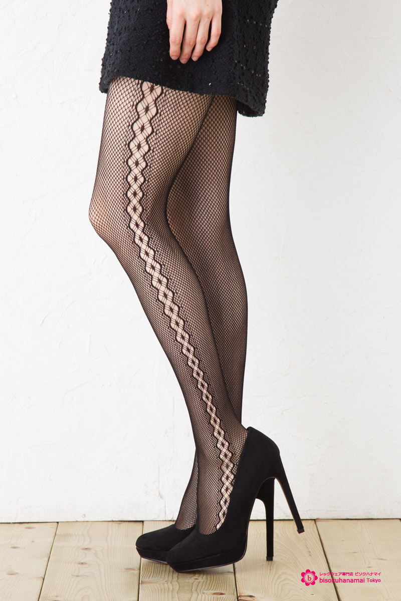 Siddia 線羅素緊身衣 (黑) ♪ 淨緊身衣網圖案的緊身褲襪襪子女士放養淨緊身衣女士 !-ZB