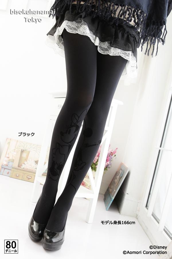 ディズニーフロッキー tights ( big Minnie) ( 80 denier )! with purchase at select ♪ pattern tights pattern stocking stockings tights ladies stocking tights ladies 30 anniversary ♪-z fs3gm