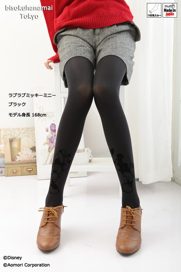ディズニーフロッキー tights ( ラブラブミッキーミニー pattern) ( 80 denier )! with purchase at select ♪ pattern tights pattern stocking stockings tights ladies stocking tights ladies 30 anniversary ♪-z fs2gm