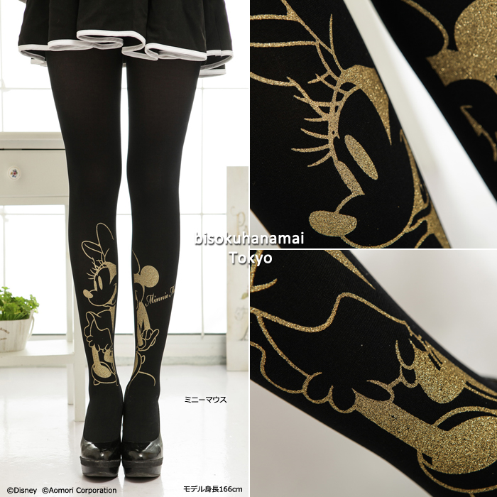 Character lame tights (80 d). pattern tights patterned pantyhose stockings tights ladies stocking tights ladies 30 anniversary ♪-ZB