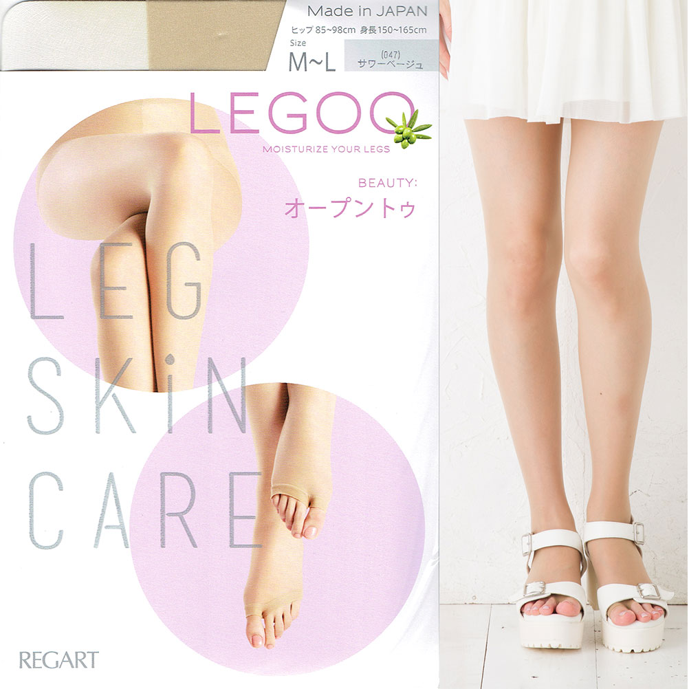 e23c40488 bisokuhanamai  It is shear tights Lady s LEGOO stockings opening toe ...
