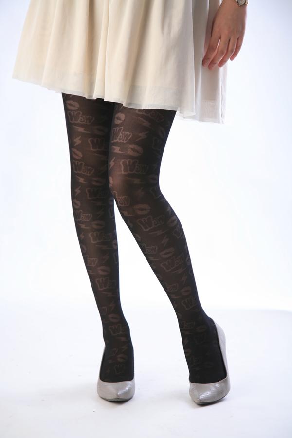 -Black 40 denier tights RIP slash! pattern tights patterned stockings sheer tights tights stockings design made in Japan stocking tights ladies!-ZB