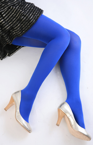 Color tights (blue) ♪ thick ladies stocking tights ladies!-ZB