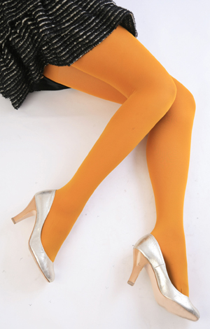 Color tights (mustard) ♪ thick ladies stocking tights ladies!-ZB