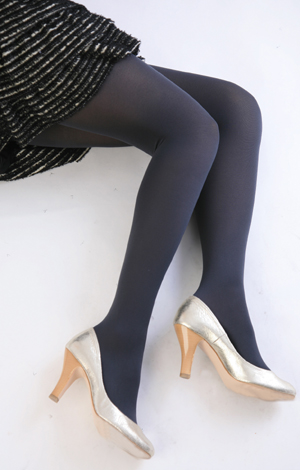 Color tights (charcoal) ♪ thick ladies stocking tights ladies!-ZB