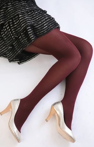 Color tights (red) ♪ thick ladies stocking tights ladies!-ZB