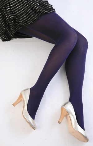 Color tights (Navy) ♪ thick ladies stocking tights ladies!-ZB