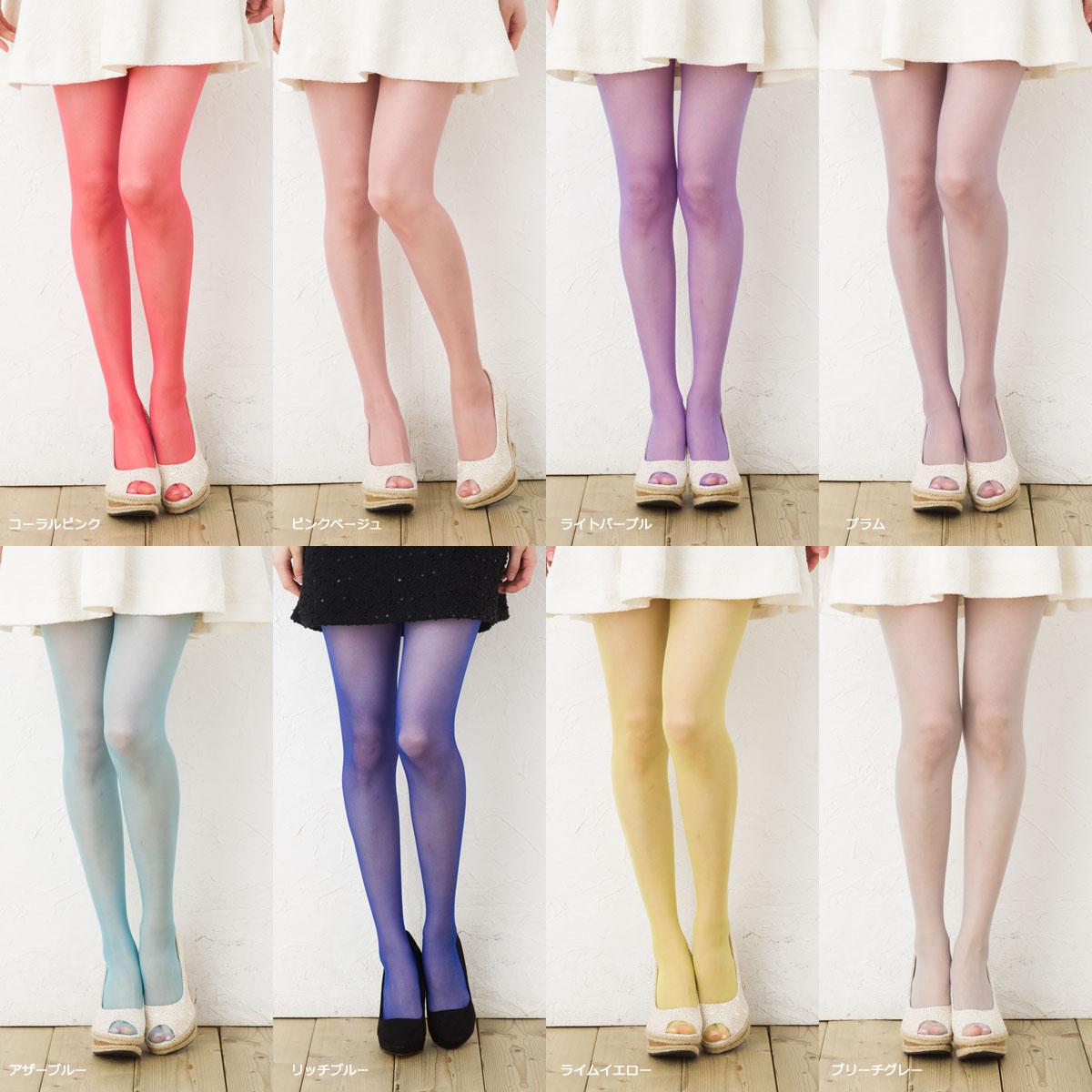 4a0db4f5e bisokuhanamai  MORE 17 d color pantyhose (10 colors) (shiny yarn ...
