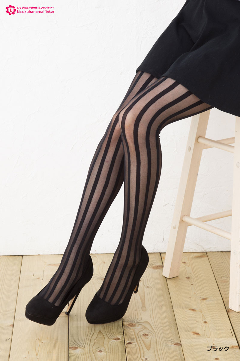0296e817c MORE London striped pattern stockings (through the toe) (Japan-Made in Japan  ...