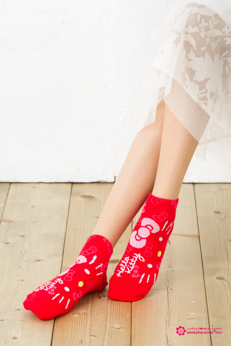 55a755153 ... Next face Kitty short socks (the Japan limited sales FOR SALE IN JAPAN  ONLY) ...