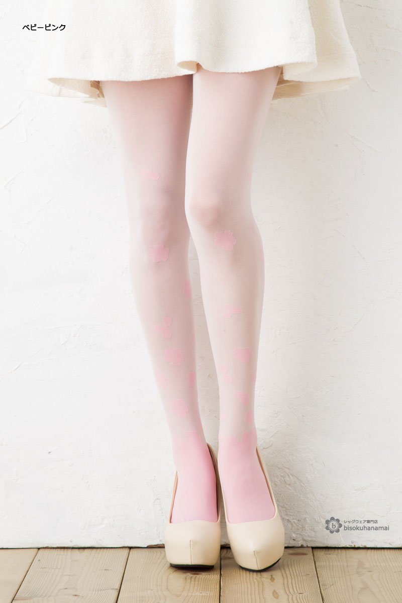 21af14a26 Cherry tree blooming tights (Made in Japan made in Japan) pattern stockings  lady s tights ...