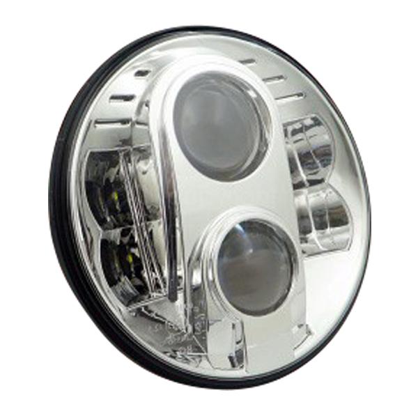 ヘッドライト LED 7インチ 1個 CREE 6500K 2800lm ラウンドタイプ 12V 24V インナークローム シルバー ハーレーダビッドソン ジープ ラングラー ランドローバー ジムニー JA系 _52177