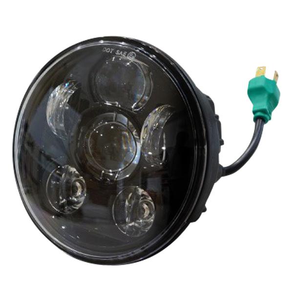 ハーレーダビッドソン LED ヘッドライト 5.75インチ インナーブラック 純正タイプ 高輝度 OSRAM製 LEDチップ採用 H4 Hi Lo ハイロー切替 30W 2800lm 45W 4000lm 6000K 黒 アルミダイキャストボディ _52180