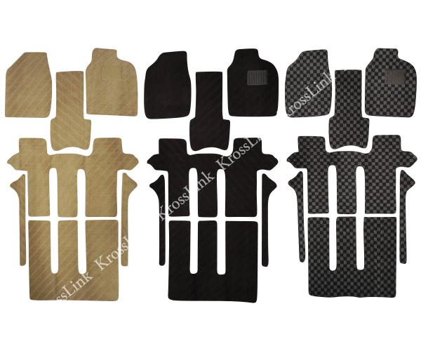 エスティマ 30 40 30系 専用 フロアマット 8人乗 7pcsセット 選べる3色 黒 ベージュ 黒x灰 丸洗いOK! エスティマ 30 ACR MCR カスタム パーツ 内装 専用マット  @a281