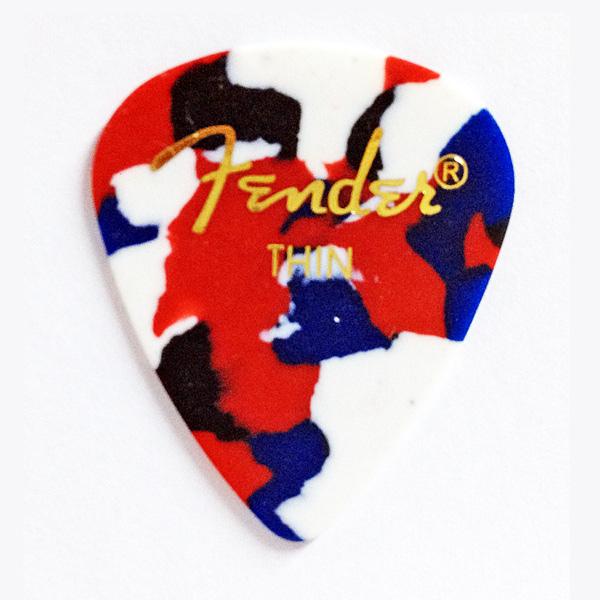 【メール便発送商品】Fender/フェンダー 351 Shape Confetti Thin × 144枚/ティアドロップ型セルロイドピック/シン CLASSIC Celluloid Pick【P2】