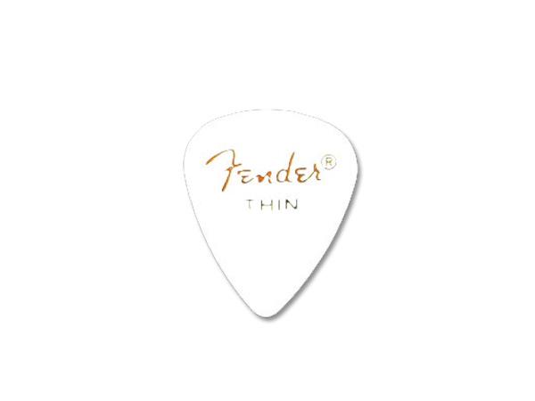 【メール便発送商品】Fender/フェンダー 351 Shape White Thin × 144枚/ティアドロップ型セルロイドピック/シン CLASSIC Celluloid Pick【P2】